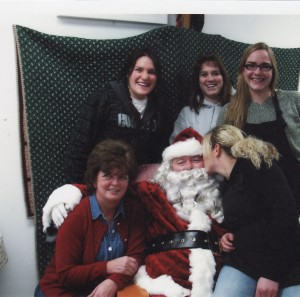 Santa visiting LVP staff